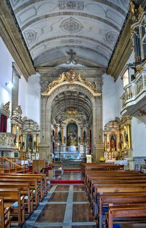 Interior of the Church of Mercy in Penafiel, Portugal Banco de Imagens - 132171821