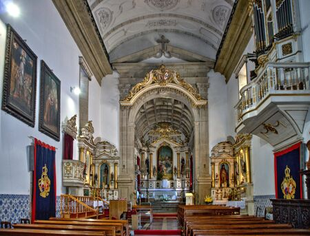 Interior of the Church of Mercy in Penafiel, Portugal 版權商用圖片