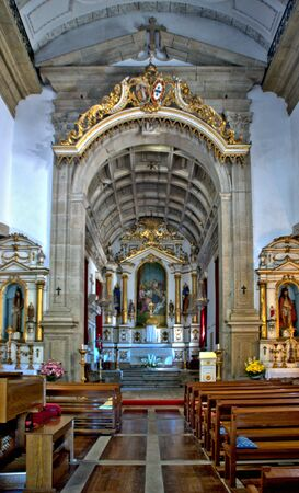Interior of the Church of Mercy in Penafiel, Portugal Banco de Imagens - 132173355