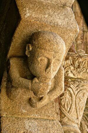 Detail of Romanesque monastery of Paco de Sousa in Penafiel, Portugal Banco de Imagens - 132766310