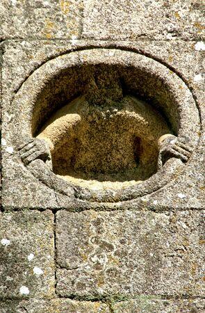 Detail of Romanesque monastery of Paco de Sousa in Penafiel, Portugal Banco de Imagens - 132766329