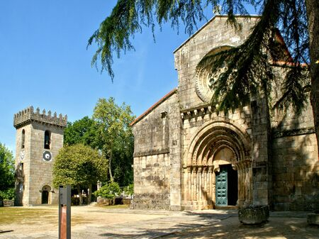 Romanesque monastery of Paco de Sousa in Penafiel, Portugal Banco de Imagens
