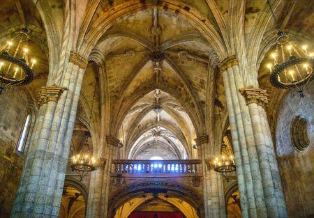 Interior of Viseu Cathedral, Portugal Stock Photo