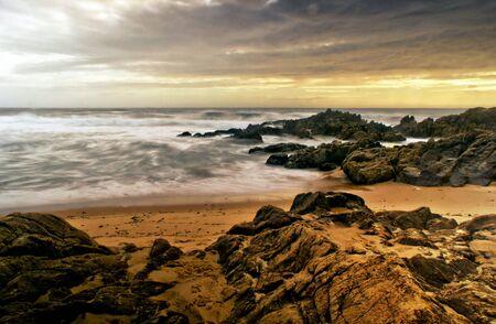 Long Exposure at Matosinhos Beach, Portugal Banco de Imagens - 132766721
