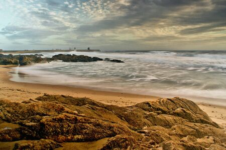 Long Exposure at Matosinhos Beach, Portugal