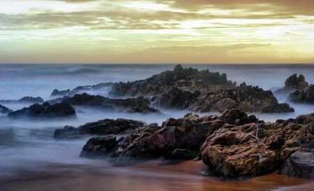 Long Exposure at Matosinhos Beach, Portugal Stock Photo - 132766725
