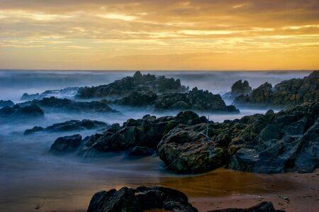 Long Exposure at Matosinhos Beach, Portugal Banco de Imagens - 132766727