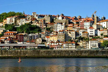Douro river in front of the city of Porto, Portugal Banco de Imagens - 132766920
