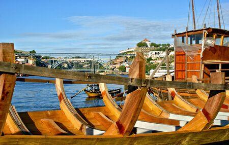 Traditional boat building yard for Douro river, Portugal Banco de Imagens - 132171840