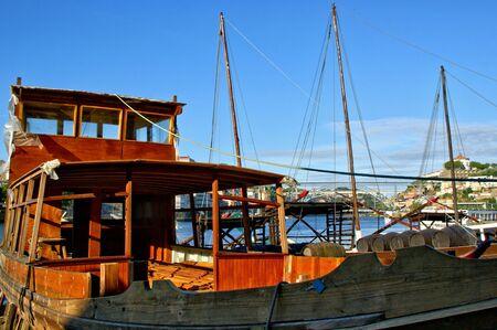 Traditional boat building yard for Douro river, Portugal Banco de Imagens - 132172894