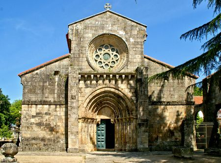 Romanesque monastery of Paco de Sousa in Penafiel, Portugal Banco de Imagens - 132892333