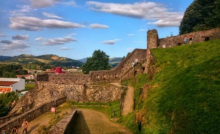 Fortress of Saint-Jean-Pied-de-Port (France), the starting point of the French way to Santiago de Compostela Stock Photo - 132892339
