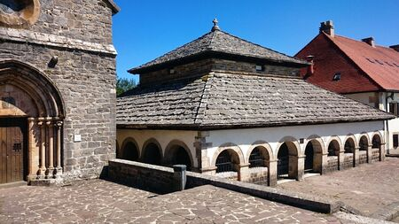 Charlemagne silo in Roncesvalles on the Camino de Santiago, Spain Banco de Imagens - 138386320