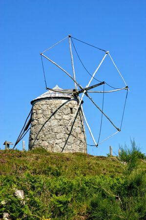 Old windmill in Fafe, north of Portugal Banco de Imagens - 138386161