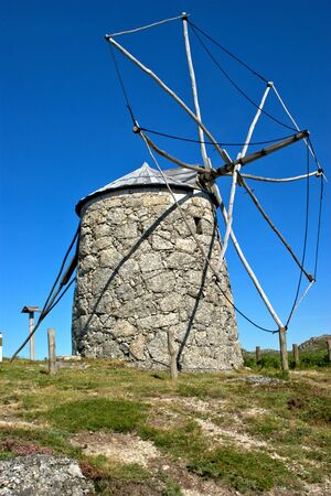 Old windmill in Fafe, north of Portugal Banco de Imagens