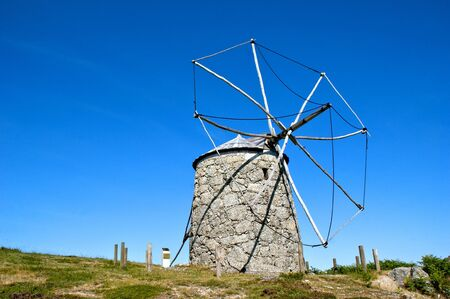 Old windmill in Fafe, north of Portugal Stock Photo