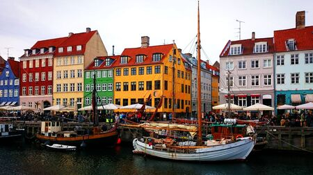 Traditional Houses Nyhavn in Copenhagen, Denmark Stock Photo - 143626007