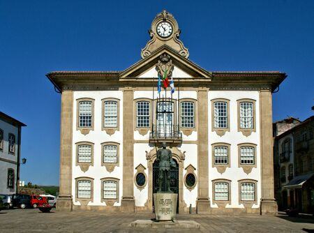 Chaves Town Hall in north of Portugal Banco de Imagens