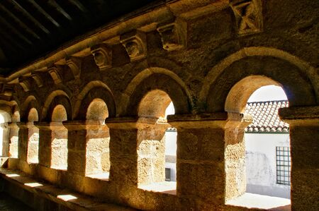 Domus Municipalis in medieval town of Braganca, Portugal