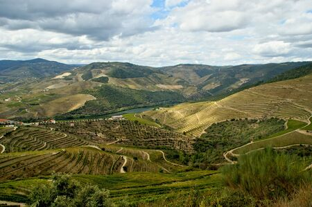 Douro Valley, vineyards and landscape near Regua, Portugal Stock Photo - 143696244