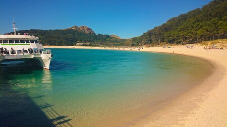 Cies Islands of Galicia in Spain