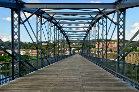 Bridges over the Douro River in the city of Regua in Portugal