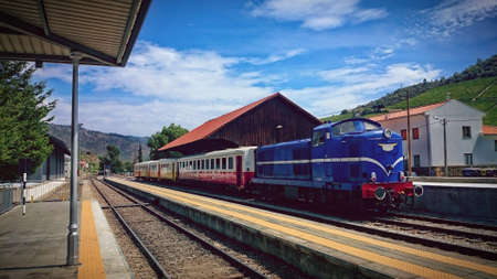 Train On Railway In Douro Valley, Portugal