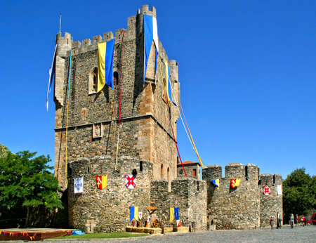 Medieval castle of Braganca, north of Portugal