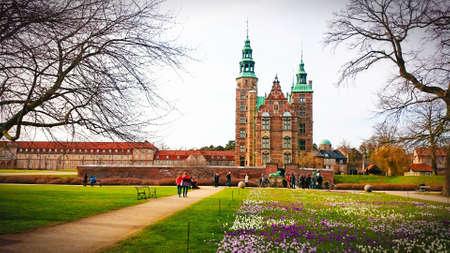Copenhagen Rosenborg Slot castle in Denmark