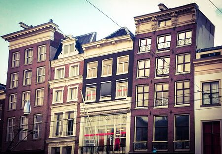 Typical Amsterdam houses in the Netherlands Banco de Imagens - 148378373