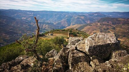 Sao Leonardo de Galafura Viewpoint in Douro Valley, Portugal