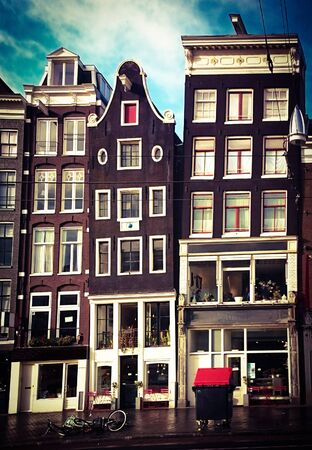 Typical Amsterdam houses in the Netherlands
