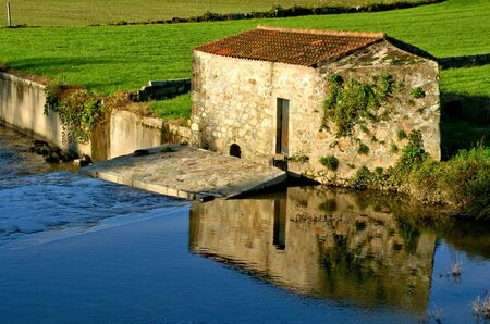 Traditional watermills on the Ave river, Portugal Banco de Imagens - 148376907