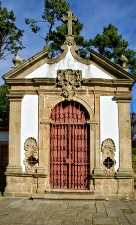 Chapel in a garden with ruins of a convent in Matosinhos, Portugal Banco de Imagens