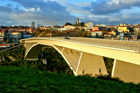 Infante bridge over Douro river in Oporto, Portugal