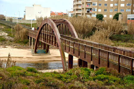 Pawn bridge in Labruge, Vila do Conde, Portugal