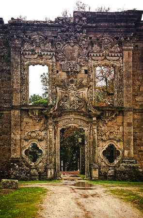 Ruined palace in Marco de Canavezes, Portugal