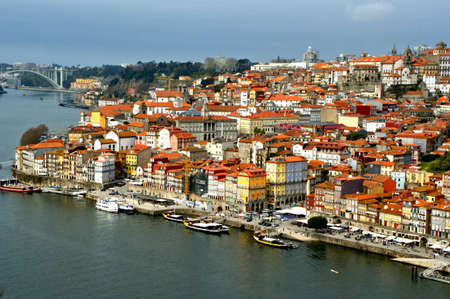 Panoramic view of Oporto in Portugal