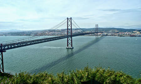 25 de Abril bridge in Almada, Portugal