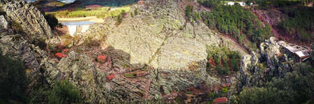 Panoramic view of the Penha Garcia geopark, Portugal Stock Photo