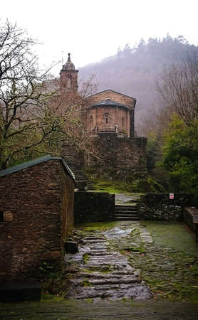 Monastery of Caaveiro in Galicia, Spain
