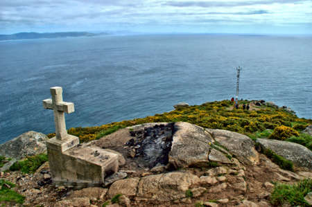 Cape Finisterre in Galicia, Spain Stock Photo