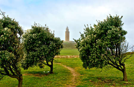 Tower of Hercules in La Coruna, Spain