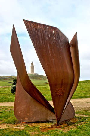 Copa del Sol in Sculpture Park of the Tower of Hercules in A Coruna, Spain