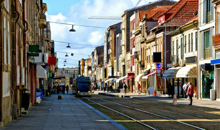 Matosinhos street in northern Portugal