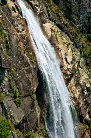 Misarela waterfall in Arouca, Portugal Banco de Imagens