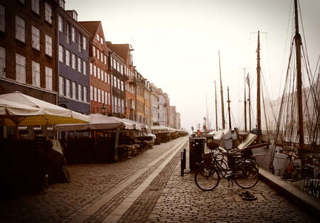 Nyhavn in the morning in Copenhagen, Denmark Banco de Imagens