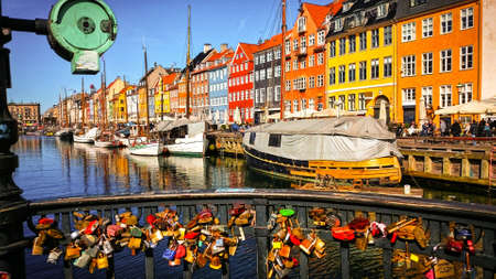 The colorful port of Nyhavn in Copenhagen, Denmark Editorial