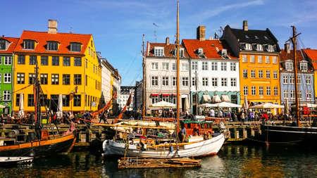 The colorful port of Nyhavn in Copenhagen, Denmark Editorial