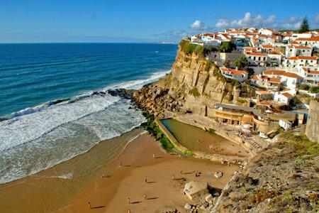 Azenhas do Mar village in Sintra, Portugal Banco de Imagens
